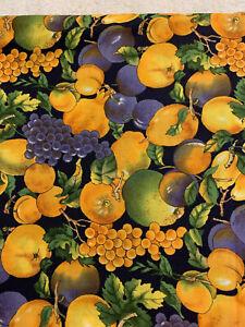 "1/2 yd Vintage Hoffman ""Indian summer "" Fruit Cotton Fabric"