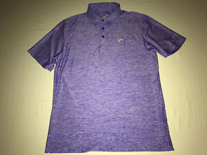 "Under Armour Golf Polo Shirt Mens Large Loose Fit Heat Gear Purple ""The Bridges"""