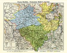Provincia Westfalia Principado de Waldeck labio Münster Deutsches Reich rahx 572