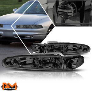 For 98-02 Oldsmobile Intrigue Headlight Replacement Smoked Housing Clear Corner