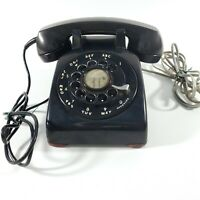 VTG 1960s Western Electric 500 Style Bell System Black Rotary Phone-Not Working