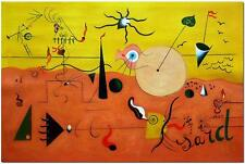 Catalan Landscape ( The Hunter ) - Hand Painted Joan Miro Abstract Oil Painting