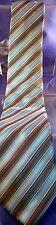Georgio Brutini 100% Silk Neck Tie Blue Gray Silver Stripe Metallic Ships Free