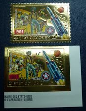 Komoren Comores 1976 Raumfahrt Space USA Gold 312 A B Perf Imperf MNH