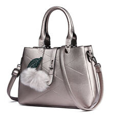 Fashion Ladies Girls Designer Pompom Shoulder Handbag PU Leather Cross Body Bag