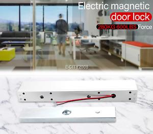 12V Electronic Magnetic Door Lock 280KG/600LB Holding Force Gate Opener Lock