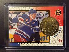 Brian Leetch 1997-98 Pinnacle Mint Die-Cut Card with Brass Coin #19