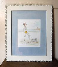 """#143 Coton De Tulear Framed Print - Dog Walk on Beach - 17.25 x 14.25"""" - 2008"""