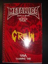 Metallica Production Tour Book 2004 WHILE SUPPLIES LAST!