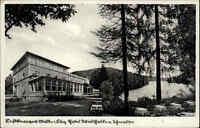Mölln AK 1950 Hotel Pension Gästehaus Waldhalle Schmalsee See Gewässer Terrasse