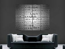Impresión de arte en pared imagen matemáticas fórmula póster gigante enorme