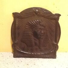 "Vintage Plastic Egyptian Pharoah's Head Wall Plaque 7""x6.75"""