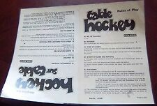 Coleco rules of play laminated   1970-80