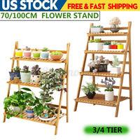 4TIER Flower Pot Plant Stand Flower Planter Rack Shelf Shelve Organizer Garden