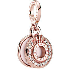 Original PANDORA® ROSE Charm Dangle 789055 C01 Crown O Krone Rose Bead