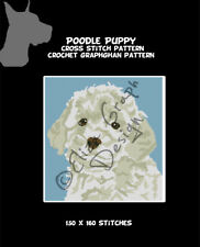 Toy Poodle Puppy Cross Stitch Pattern, Crochet Graphghan Blanket Pattern