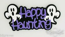 CraftEcafe Premade Paper Piecie Die Cut Scrapbook Halloween Title BLJgraves 87