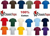 Classictops plain t-shirts mens t shirts womens blank 100% cotton casual t shirt