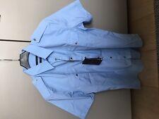 Mens Gucci Duke Blue Cotton Short Sleeve Shirt Size 38/15 New