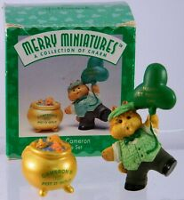 Hallmark Merry Miniatures Lucky Cameron Pot O' Gold 2-Piece St Patricks Day 1996