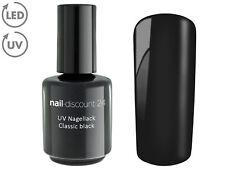 UV Polishgel BLACK 15ml Design Nagellack Soak Off LED Gel Farb Lack Nail Schwarz