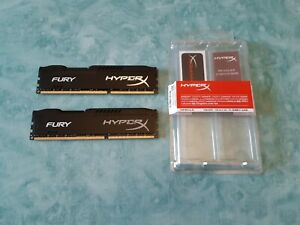 RAM Kingston Hyper X Fury DDR3 1600MHz CL10 16GB (2x8GB) HX316C10FBK2/16 Noir