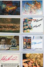 Fantasy Art & Comic Art Autograph & Sketch Card Selection NM FPG Comic Images