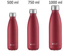 FLSK Trinkflasche Thermosflasche Isolierflasche 0,5 L 0,7L 1 L  blau/rot/schwarz