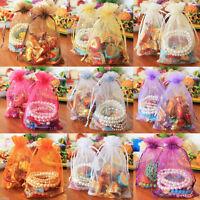 25/50/100Pcs Sheer Organza Wedding Birthday Party Favor Gift Candy Bags 12x9CM
