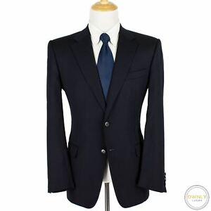 Corneliani Blue Superfine Wool 18.75 Microns Striped Pleated 2Btn Suit 42R