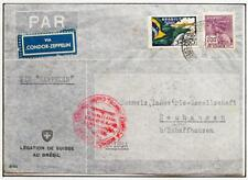 BRAZIL to GERMANY to SWITZERLAND 1934 ZEPPELIN, Airship 3rd SAF Flight Cover +Le