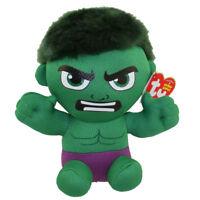 """TY Beanie Baby 6"""" Hulk (Marvel) Plush Stuffed Animal Toy MWMT's w/ Ty Heart Tags"""