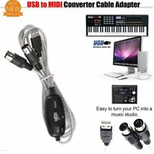Converter USB to Midi Adapter Piano Music Keyboard Cable Interface for Laptop PC