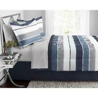 Mainstays Stripe Bed in a Bag Bedding Twin / Full / Queen / King | Blue / Red