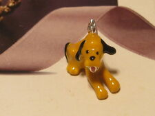 LOBSTER CLIP ON 3D PLUTO PUPPY DOG CHARM FITS LINK BRACELET LINKS NECKLACE