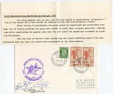 Norvegia 1969 Spitzberg Copertina firmata Olandese Alpinismo Expedition