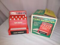 Vintage 1970s Tom Thumb Toy Cash Register, Working Condition With (Damaged) Box