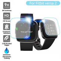 3/5PC Clear Film Tempered Glass Screen Protector for Fitbit versa 2 Smart Watch