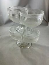 2 Vintage Double Scoop Pedestal Ice Cream Dishes. Rare. Great Condition.