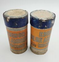 2- VTG Edison Blue Amberol Phonograph Cylinder Records #'s 4078 & 4099