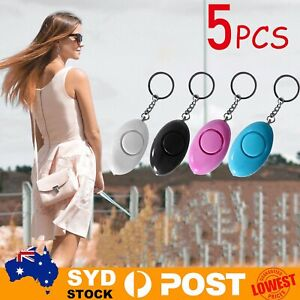 5 pack 120dB Personal Alarm Safety Keychain Panic Security Emergency Torch Alert