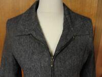 Sandro Gray Wool Blazer Lined Jacket Blazer, 12P