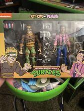 NECA Teenage Mutant Ninja Turtles Scale Rat King & Vernon Action Figures