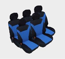 5x Sitzbezug Sitzbezüge Schonbezüge Set Blau Van Sitze für Renault Seat