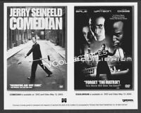 8x10 Photo~ Videos Promo ~COMEDIAN ~Jerry Seinfeld ~EQUILIBRIUM ~Christian Bale