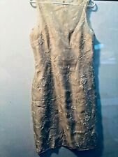 Beautiful Ladies Ivory Silk Short Cocktail Dress-Very Elegant- Ann Taylor size 8