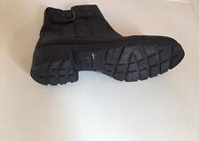 Femmes Prochain en Cuir Noir Cheville Chaussures Taille UK 4