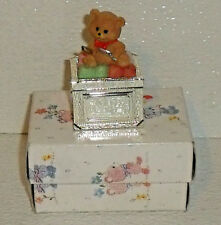 Babys First Haircut Trinket Box New in Box Unused Teddy Bear 2.5""