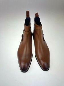 Carmina Shoemaker Jodhpur Boots Size UK 11 Simpson 80106 Tan vegano