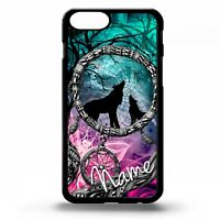 Wolves howling at the moon wolf dream catcher personalised name phone case cover